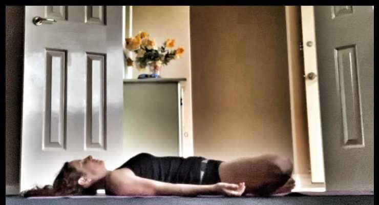Supta baddha konasana - Restorative Yoga - Fremantle