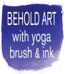 Behold Art with Yoga, Brush & Ink logo