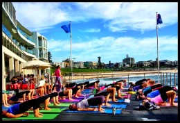 Yoga by the Sea, Bondi, Tamarama & Bronte logo