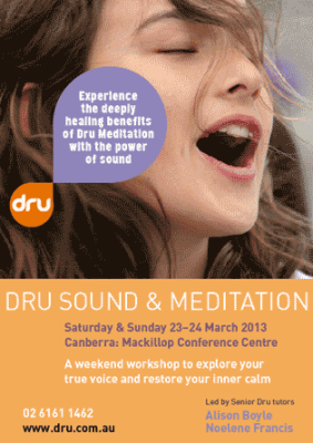 Dru Sound and Meditation - Canberra