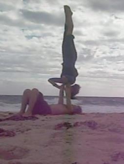 Flying Yoga class
