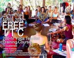 Free 200hr Yoga Teacher Training Guatemala