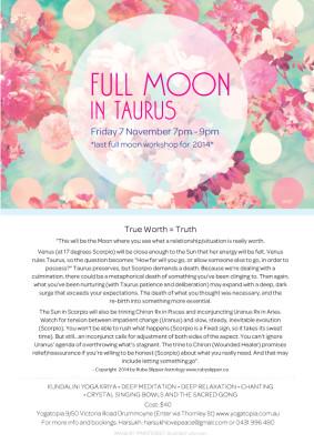 Full Moon Meditation in Taurus - True Worth = Truth