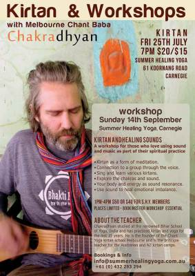 Kirtan ans Sound Healing Workshop Carnegie