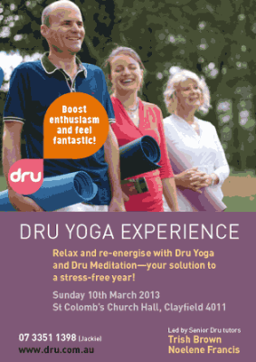 Relax And Re-energise With Dru Yoga - Brisbane