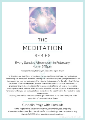 The Meditation Series