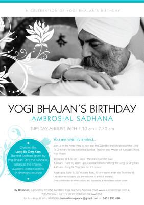 Yogi Bhajan's Birthday Ambrosial Sadhana