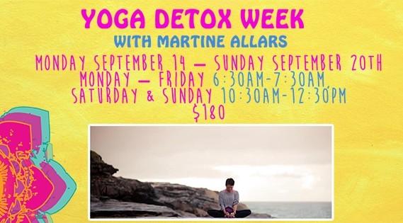 Yoga Detox week with Martine Allars