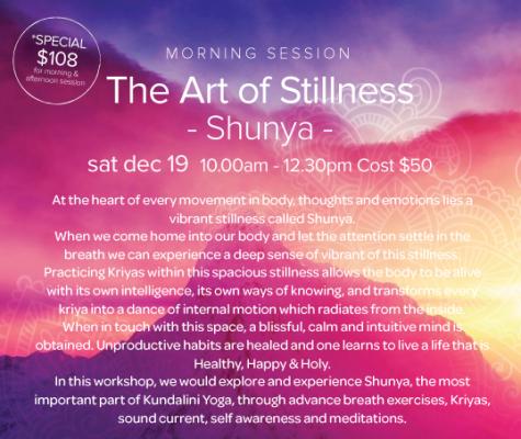 Meditate. Find the Stillness within