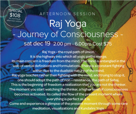Raj Yoga - the royal path of Union.
