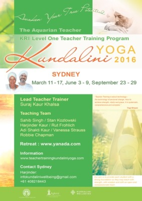 Kundalini Yoga Teacher Training 2016 -  an opportunity for personal transformation.