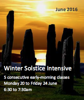 Winter Intensive over 5 consecutive early-morning classes.