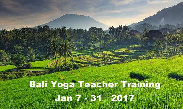 Bali Yoga Teacher Training Jan 7-31 2017