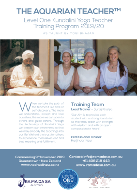Level One Kundalini Yoga Teacher Training Program 2019/20 NZ