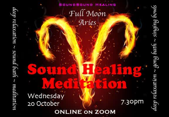 Sound Healing Meditation Full Moon in Aries : ONLINE