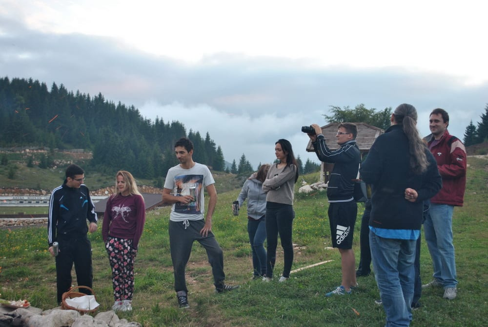 FYB in the mountains, camp fire time