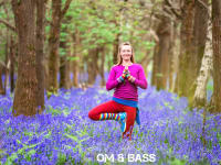 Om & Bass Rachel Bluebells Yoga Pose