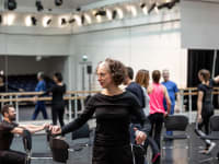 Bim Malcomson leading ballet workshop. ROH 2020. Photographed by Lara Cappelli.