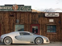 Cars as Art Silver Bugatti Veyron