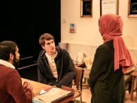 The Funeral Director  London Cast  Maanuv Thiara  Tom Morley and Aryana Ramkhalawon  c The Other Richard