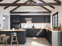 How To Design a Kitchen Dark Grey cupboards