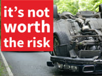 #ItsNotWorthTheRisk Car Overturned Main Image