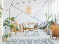 Cane and Rattan Boho Style Living Area