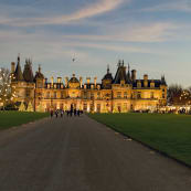 Manor and Christmas Fair Christmas at Waddesdon Manor National Trust Waddesdon Manor. Photo Hugh Mothersole wkorme