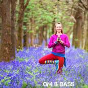 Om & Bass Rachel Bluebells Yoga Pose