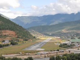 Bhutan Kingdom of the Sky Landing at Paro Bhutan