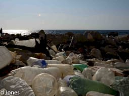 UK National Synchotron Plastic pollution ashore