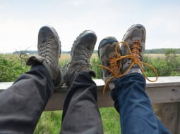 Where The Grass Is Greener June Couple Walking Boots with View