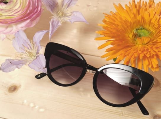 Oliver Bonas Vienna Black Metal Cateye Sunglasses 45 xhqyyq