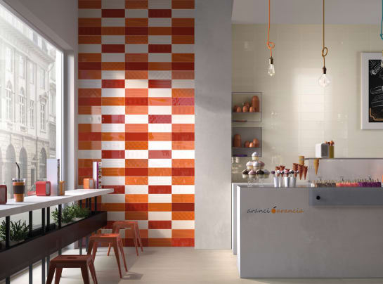 Tileflair red orange milano kitchen