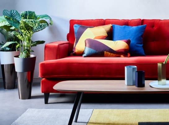 Heals Mistral Sofa Red