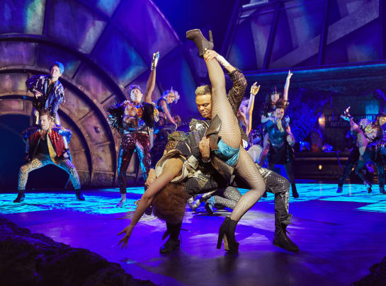 The original West End cast of BAT OUT OF HELL THE MUSICAL. Photo Credit Specular 6