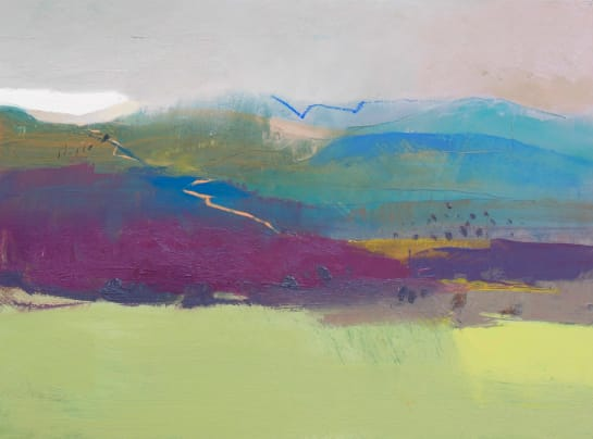 jane strother cairngorm approach from the green field