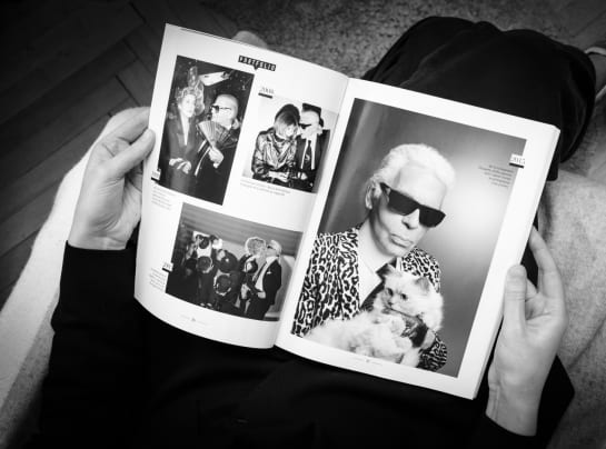 This Month Im Channeling June Karl Lagerfeld Black and White Magazine