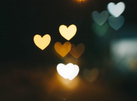 Singles Awareness Day Loveheart Lights