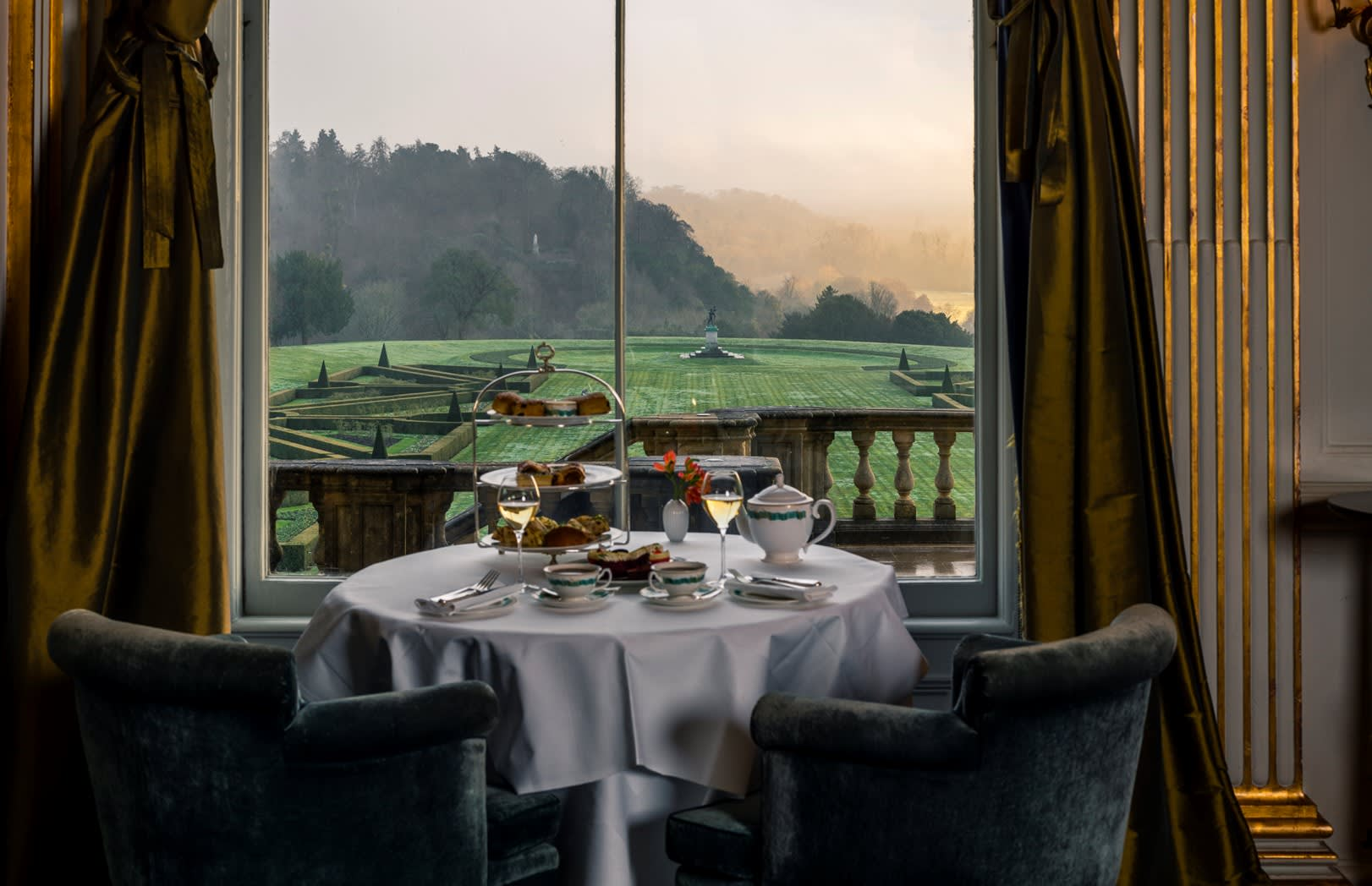 Afternoon Tea at Cliveden House Window