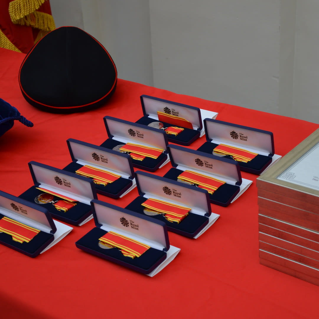 Image Chief Fire Officer Award Ceremony medals