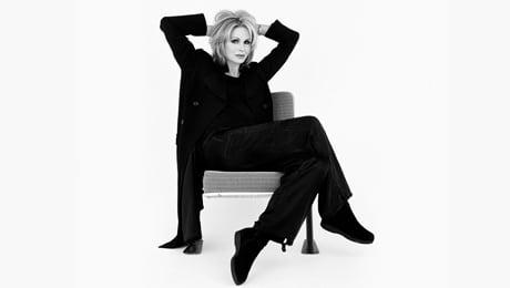 Joanna Lumley reclining
