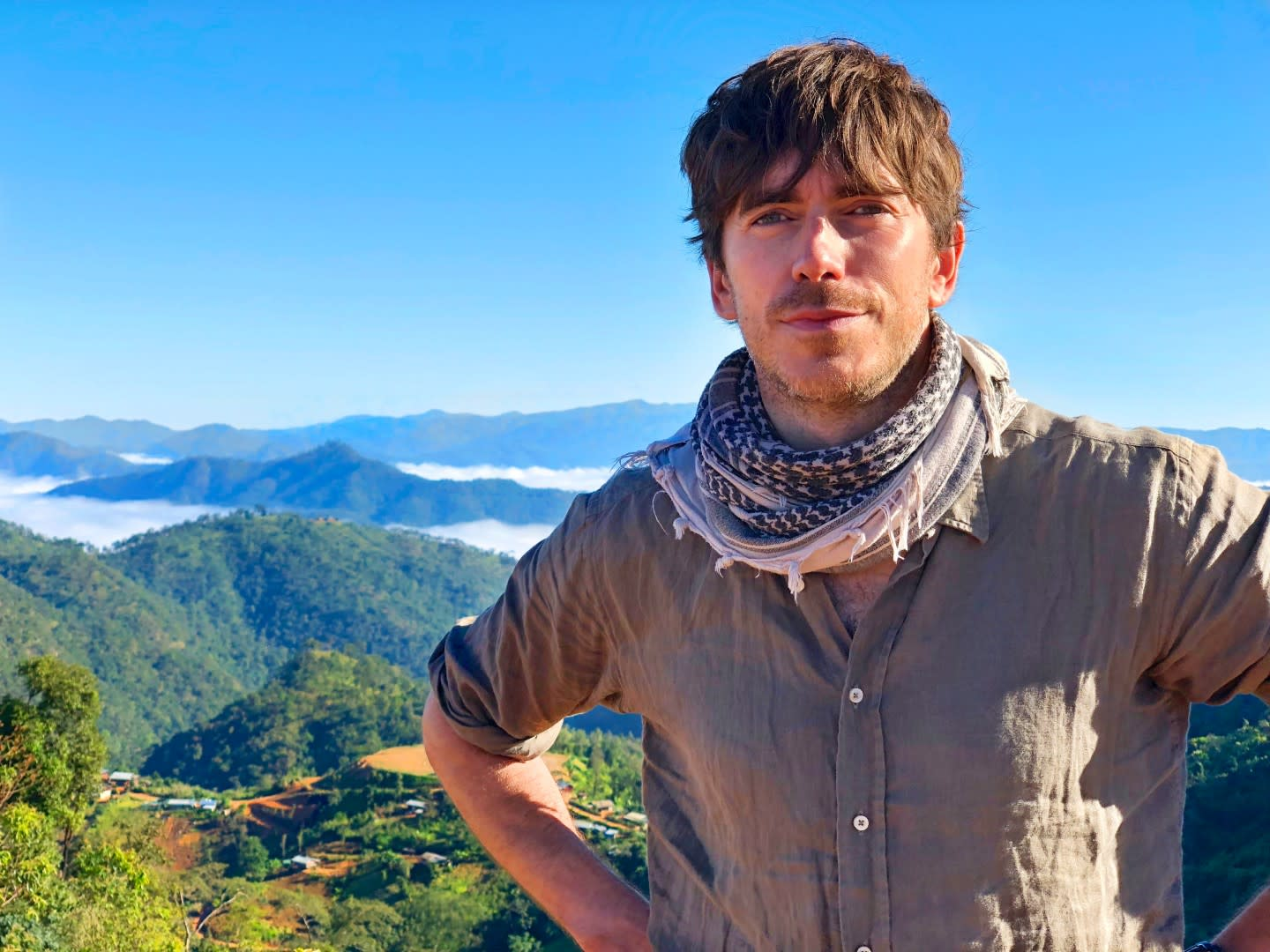 Simon Reeve Heads Shot Mountains