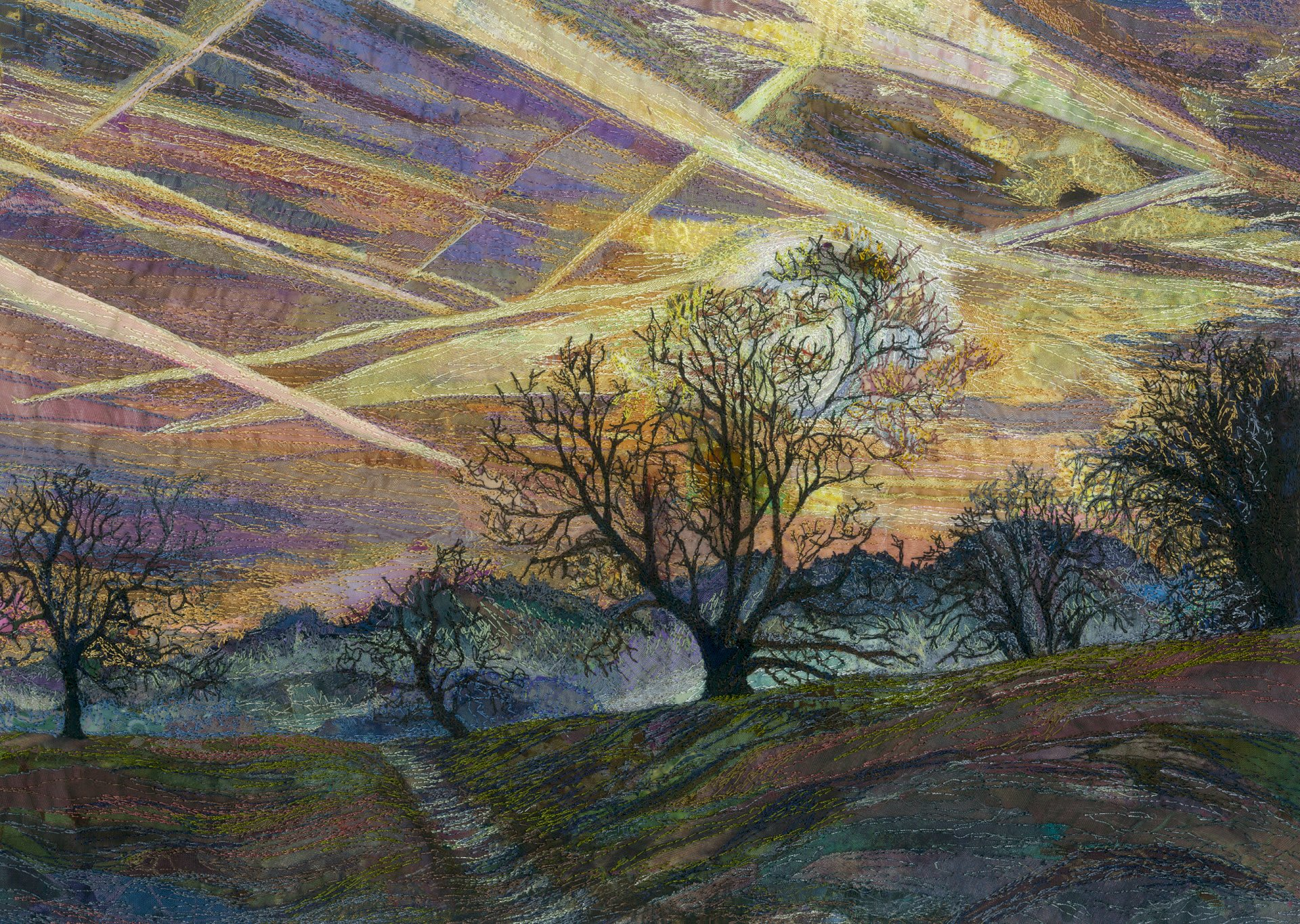 Rachel Wright sky trails original