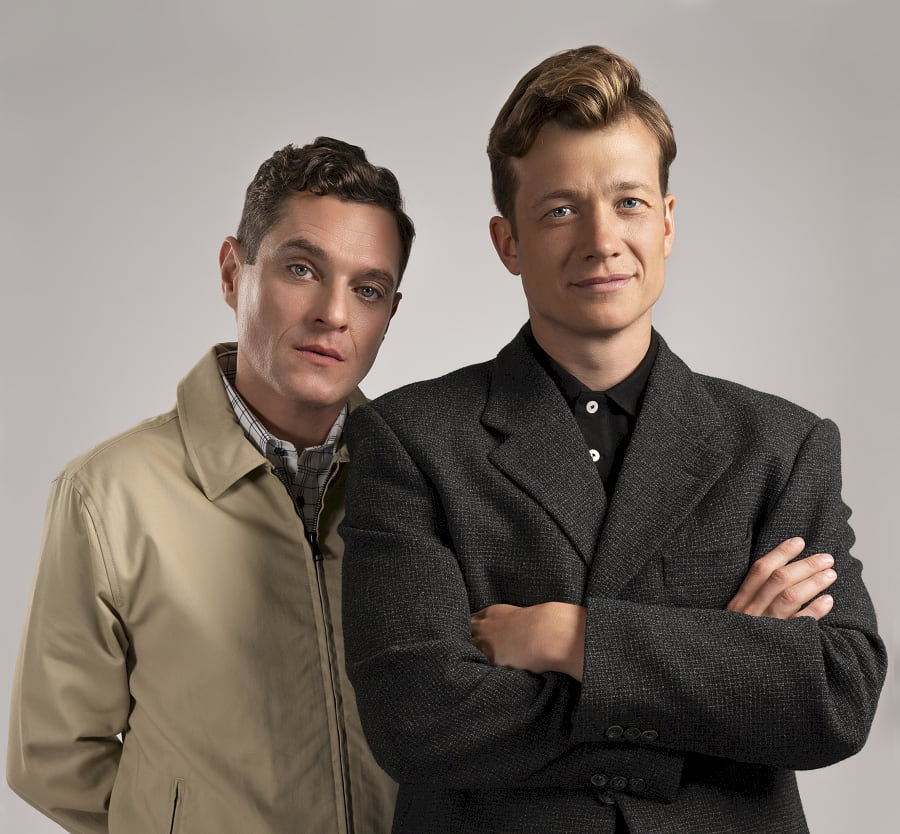 Ed Speleers and Matthew Horne on Rain Ma