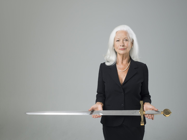 Vibrant NonviolenceScilla Elworthy With Sword