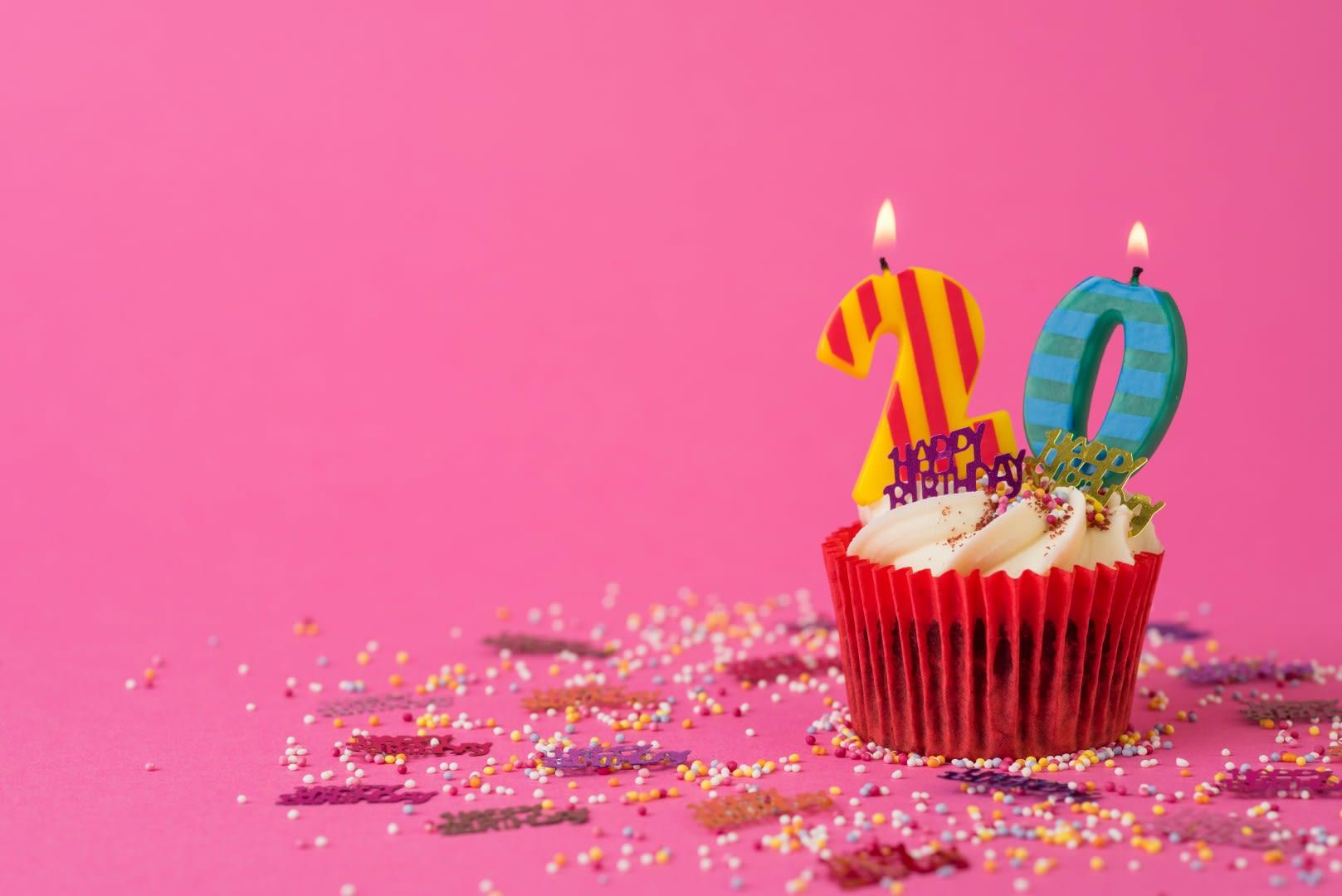 Look Whos Turning 20 Milton Keynes Theatre Birthday Cupcake