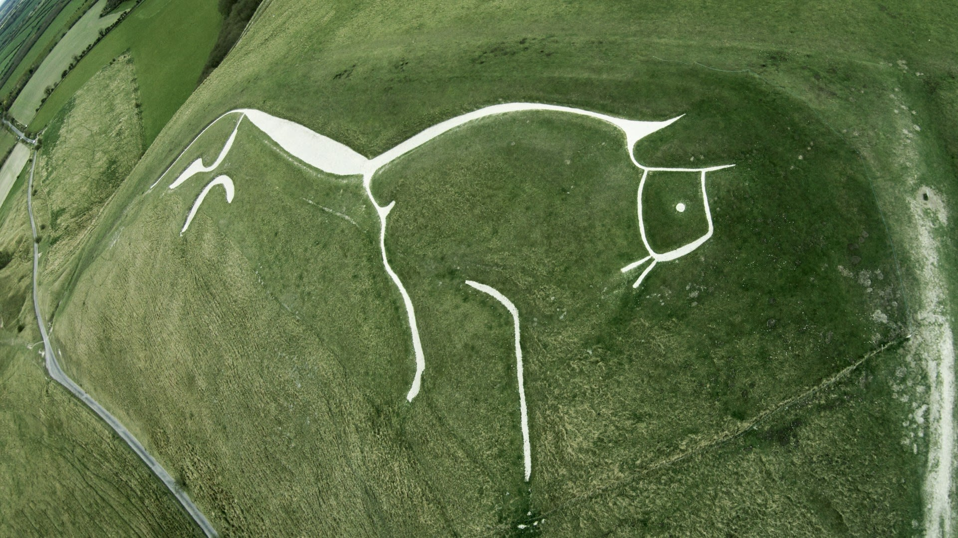 Where The Grass Is Greener June Uffington White Horse Aerial Shot