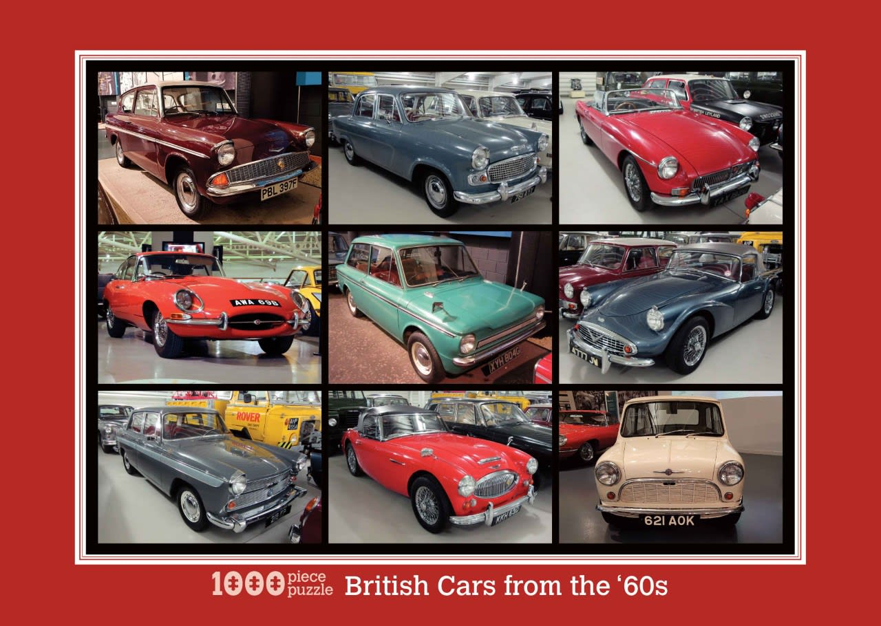 thumbnail British Cars from the 60s Jigsaw lr