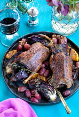 Rachel Green s Mallard with Radicchio and Roasted Grapes by Michael Powell   pls credit Taste of Game hnyxks